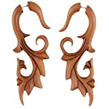 Evolatree - Phoenix Filigree - Wood - Steel Pin - Cheater Earrings