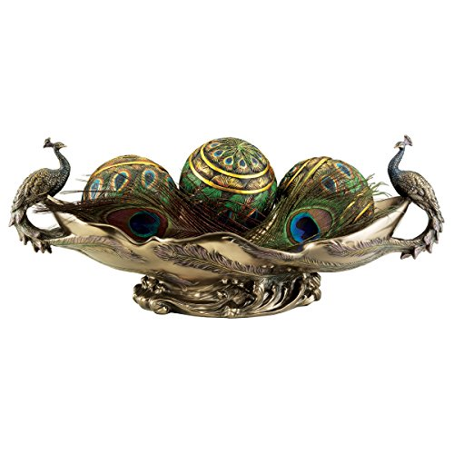 Peacock's Decorative Sculptural Bowl Centerpiece