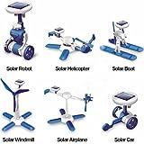 6 in 1 Robot DIY Educational Solar Kit (White + Blue)