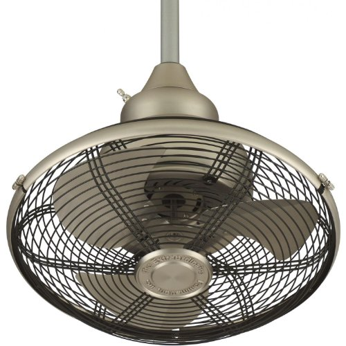 Fanimation Extraordinaire 18 Inch Outdoor Ceiling Fan - Satin Nickel