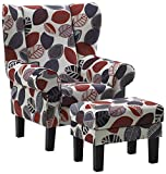 Atlantic Home Collection JEFF-1 Ohrensessel Jeff inklusive Hocker