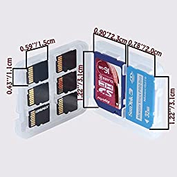 12 pack - 8 in 1 Micro SD TF MS SD SDHC Memory Card Storage Holder Box Plastic Portable Jewel Case