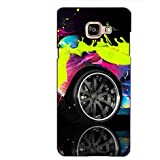 PrintVisa Designer Back Case Cover For Samsung Galaxy On Max (Car Tyre With A Splash Of Different Colours)