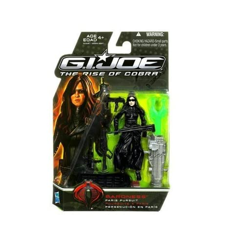 G.I. Joe Movie The Rise of Cobra 3 3/4 Inch Action Figure Baroness (Paris Pursuit) by Hasbro (English Manual)