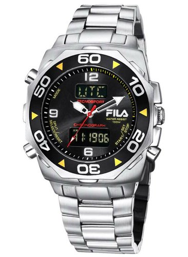 Fila FA0602-71 Men's Multifunction Tecnosport Analogue and Digital Stainless Steel Watch