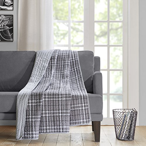 Intelligent Design Daryl Oversized Quilted Throw Grey 60x70 (Quilted Throw Polyester compare prices)