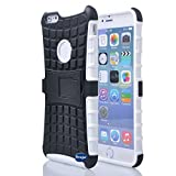 Nancy's Shop Iphone 6 Plus 5.5 Inch [Kickstand] Case,deego New Release [Heavy Duty] Combo Armor Defender [Dual Layer] Grip Case with Prime [Kickstand] for Apple Iphone 6 Plus 5.5'' Screen Smartphone(at&t, Verizon, T-mobile, Sprint,) - (Nancy's Shop Kickstand Case - White )