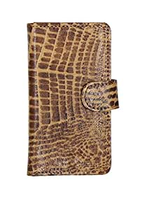 D.rD Geniune Leather Mobile Flip Cover With Card Holder For Micromax Canvas 2.2 A114 (brown)