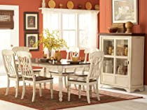 Hot Sale Homelegance Ohana 7 Piece Dining Table Set in White/Warm Cherry