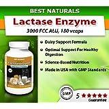 Best Naturals -- Fast Acting Lactase Enzyme -- 3000 FCC ALU -- 180 Tablets