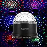 Supertech 12 Color Changes RGB Sound Actived 10W 2 IN 1 Mini Rotating Magic Ball Stage Lights For KTV Xmas Party Wedding Show Club Pub Disco DJ