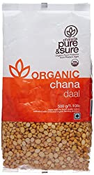 Pure & Sure Organic Channa Dal, 500g
