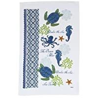 Sea Turtle & Sea Horse Terry Towel (1) Jennifer Brinley