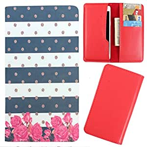 DooDa - For HTC Desire P PU Leather Designer Fashionable Fancy Case Cover Pouch With Card & Cash Slots & Smooth Inner Velvet