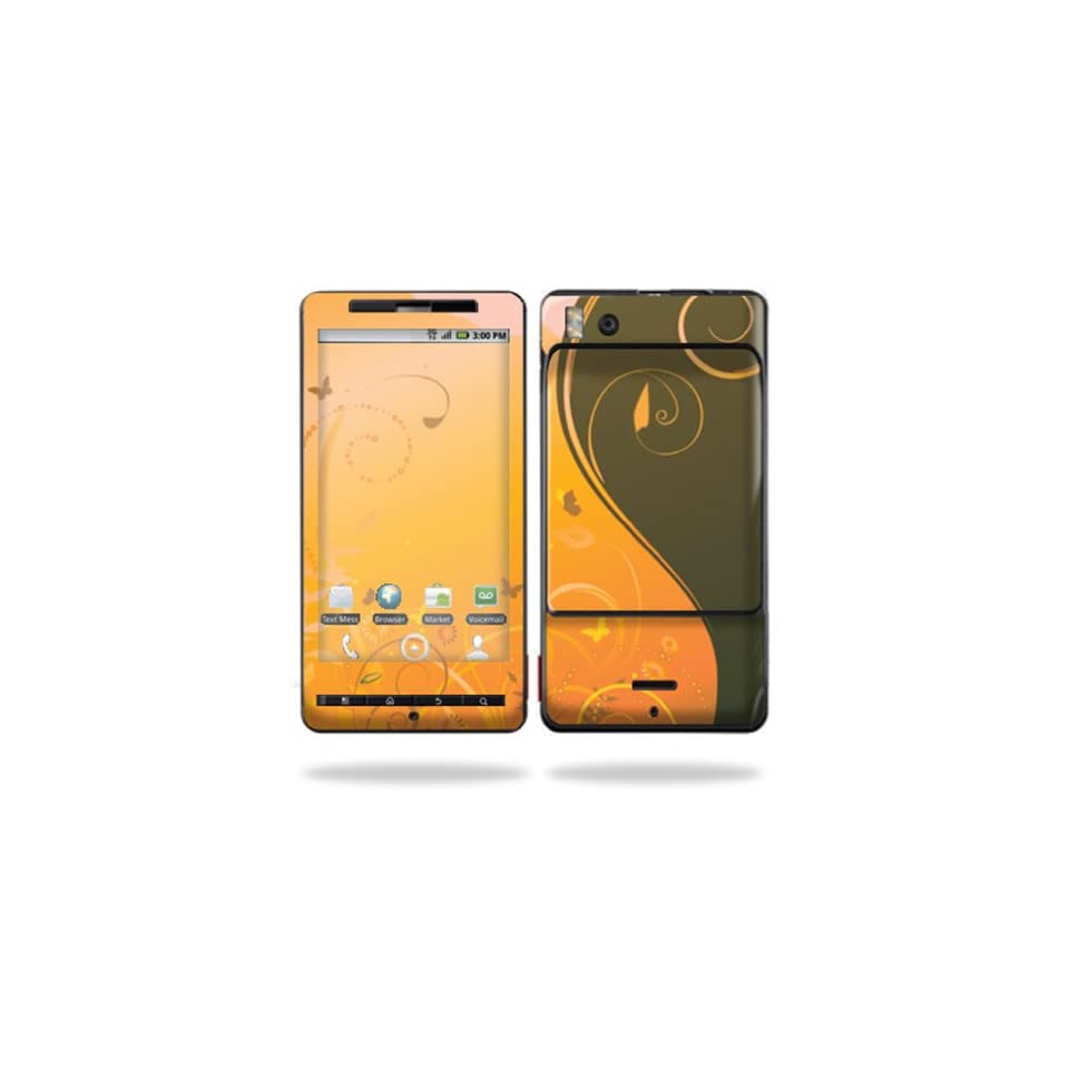 Protective Vinyl Skin Decal Cover for Motorola Droid X (MB 810) or X2 (MB 870) Cell Phone Sticker Skins  Butterfly Garden