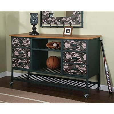 Kids bedroom storage dresser with army for Camo kids bedroom ideas