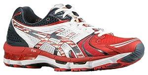 Asics Women's Gel-Kayano 18 USA Olympic Edition Running Shoe, White/Red/Blue, 7 M US