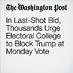 In Last-Shot Bid, Thousands Urge Electoral College to Block Trump at Monday Vote | Robert Samuels