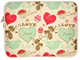"Elite 15.4"", 15.6"" Laptop/Notebook Sleeve Case Bag - Love Heart"