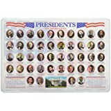 Painless learning flags of the world placemat for Presidents and their home states