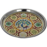 Crafts Creator Steel Decorative Plate (22 Cm X 22 Cm X 2 Cm, CC_24)