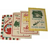 Bait and Tackle Dish Towels by Moda, Set of 4