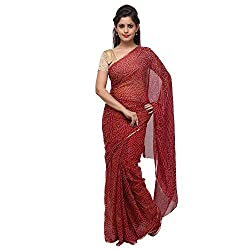 Aradhya Enterprises Women's Chiffon Saree-AE3310_Maroon