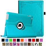 Fintie Apple iPad 2/3/4 Case - 360 Degree Rotating Stand Smart Case Cover for iPad with Retina Display (iPad 4th Generation), the new iPad 3 & iPad 2 (Automatic Wake/Sleep Feature), Z-Vintage Winter Ice