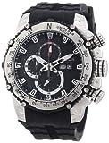 Nautec No Limit Herren-Armbanduhr XL D2X Chronograph Quarz Kautschuk DT QZ/RBSTSTSL-BK