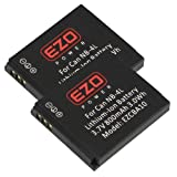 EZOPower 2 Pcs NB-4L Lithium-Ion Battery-800mAh for Canon Digital IXUS 255 HS, 230 HS, IXUS 220 HS, IXUS 115 HS, IXUS 130, IXUS 120 IS, IXUS 65S, IXUS 60, IXUS 55, IXUS Wireless, IXUS 50, IXUS 40, IXUS 30, XUS i7, IXUS i Zoom, IXUS 110 IS, IXUS 100 IS, I
