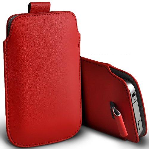 ( Red ) Samsung Rex 60 C3312R Schutzkunstleder Pull Tab stilvolle Einbau Beutel-Kasten-Abdeckung Haut durch Spyrox