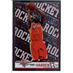 2013 2014 Panini NBA Sticker # 167 James Harden FOIL Houston Rockets by NBA Stickers