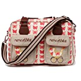 Pink Lining Mama Et Bebe Changing Bag-Red Butterflies