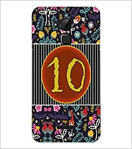 PrintDhaba Numerology Number 10 D-3097 Back Case Cover for COOLPAD NOTE 3 LITE (Multi-Coloured)