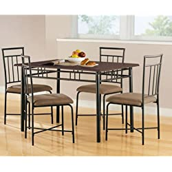 Mainstays 5-Piece Wood and Metal Dining Set (Multiple Colors)
