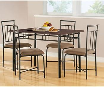 Mainstays 5-Piece Wood & Metal Dining Set