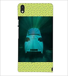 PrintDhaba Car D-5842 Back Case Cover for HUAWEI ASCEND P6 (Multi-Coloured)
