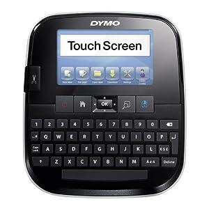 Dymo S0946450 LabelManager 500 TS Touchscreen-Etikettendrucker mit PC- oder Mac-Anbindung Bandsystem, D1-Bänder: 6, 9, 12, 19, 24 mm