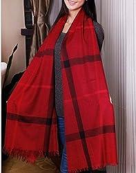 Wander Agio Gird Big Fashion Classical Shade Shawls Large Scarf Red