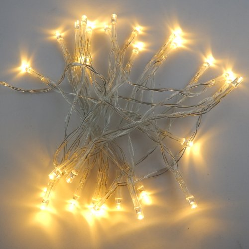 E-Age 3M/10Ft 30 Led String Lights Battery Operated For Xmas Wedding Birthday Party (Warm White)