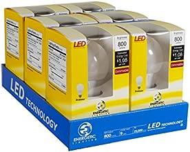 Energetic Lighting ELY09D-EAS-VB-6 A19 - 60 Watt Equivalent 800 Lumen Dimmable, 6-Pack