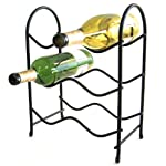 Spectrum 48210 Metro Wine Rack, 6-Bottle, Black