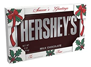 Hershey's Holiday Milk Chocolate Bar, 5-Pound Bar