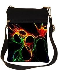 Snoogg Abstract Circles Cross Body Tote Bag / Shoulder Sling Carry Bag