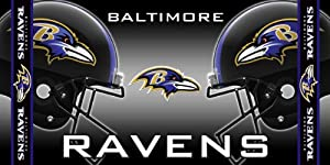 NFL Baltimore Ravens Fiber Reactive Beach Towel