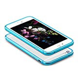 iPhone6/6s plusバンパー 外側はアルミ合金 内側はシリコン 弾性のある枠ケース 捻っても壊れない 最高レベル耐衝撃 携帯本体完全保護カバー iPhone6plusケース iPhone6splusケース(iPhone6/6sPlus(5.5インチ), ブルー)