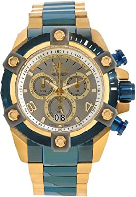 Invicta 13023 Grand Arsenal Reserve Gold Tone and Blue Ion-Plated Men's Watch