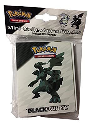 Pokemon Mini Binder Featuring Zekrom and Reshiram from Black & White (Album Holds 60 Cards)