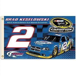 Buy #2 Brad Keselowski 2 Sided Sprint Car Champion Flag by BSI