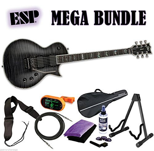 ESP LTD EC-1000FR STBLK See Thru Black Deluxe *NEW* Floyd Rose MEGA BUNDLE 1 (Ec 1000 Floyd compare prices)